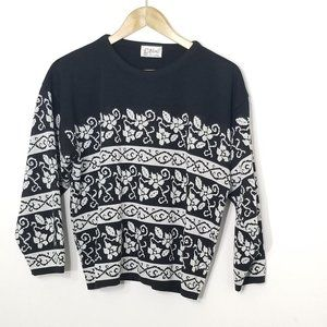 D'Allaird's | Vintage Black Knit Pullover Sweater